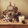Retro Christmas composition — Stock Photo #34168923