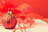 Christmas background with ornament ball — Stock Photo