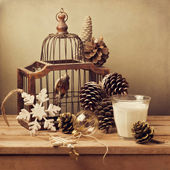 Retro Christmas composition — Stock Photo