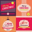 Vintage Christmas greeting card  — Imagen vectorial
