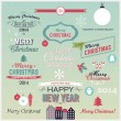Christmas set of greetings — Vector de stock