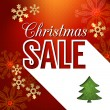 Christmas sale poster design — Vector de stock