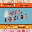 Christmas retro set of lettering — Stock Vector