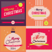 Vintage Christmas greeting card — Vector de stock