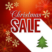 Christmas sale poster design — Vettoriale Stock