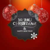 Christmas greeting — Vector de stock
