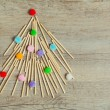Stock Photo: Handmade Christmas tree