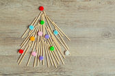 Handmade Christmas tree — Stock Photo