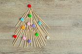 Handmade Christmas tree — Stock Photo
