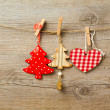 Christmas decoration toys — Stock Photo