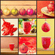 Stock Photo: Collage of Christmas decorations