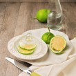 Lemon on plate  — Stock Photo
