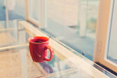 Coffee cup in office — Stock Photo