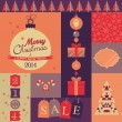 Christmas vintage poster — Stock Vector