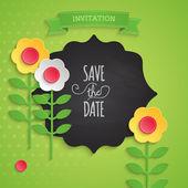 Wedding invitation design — Stock Vector