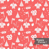 Seamless pattern for Jewish holiday Purim — Stock Vector