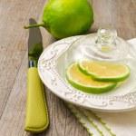 Lemon under glass lid — Stock Photo #37221833