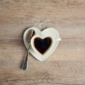 Heart shape coffee cup — Stock Photo