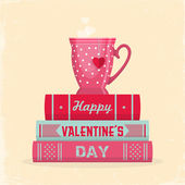 Valentine's day greeting card — Vettoriale Stock