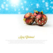 Christmas background with decoration balls — Stock Photo