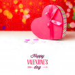 Gift heart shape box for Valentine's day — Stock Photo #39496687
