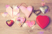 Valentine's day background with heart shapes — Stock Photo