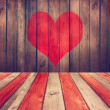 Valentine's day grunge background. — Stock Photo