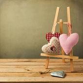 Aftelkalender voor valentijnsdag achtergrond met hart vorm — Stockfoto