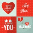 Set of Valentine's day greeting card — Stock Vector