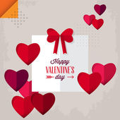 Valentine's day greeting card design with gift box. — Stock Vector