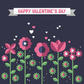 Valentine's day greeting card. — Vector de stock