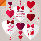 Valentine's day background with heart shapes — Stock Vector