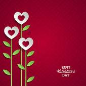 Día de san valentín fondo con flores. — Vector de stock