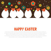 Easter border flat design. — Stock Vector