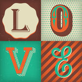 Love lettering poster design — Stockvector