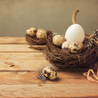 Vintage background with easter eggs — Stock Photo #42171593