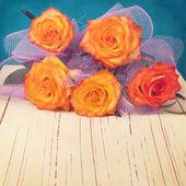 Beautiful roses bouquet — Stock Photo