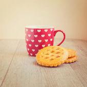 Filiżankę herbaty i ciasteczka — Zdjęcie stockowe
