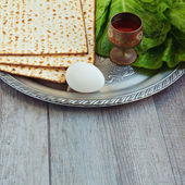 Jewish Passover seder celebration — Stock Photo