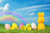 Easter holiday background — Stock Photo