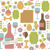 Seamless pattern for Jewish holiday Passover — Vettoriale Stock