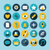 Flat modern icons vector collection — Stock Vector