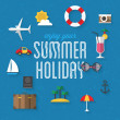 Icons set for traveling, summer vacation and tourism — Stock Vector #44121513