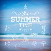 Summer holiday vacation poster — Stock Vector
