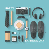 Concept for Father's day greeting card — Vector de stock
