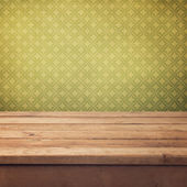 Vintage background with wooden deck — Stock Photo