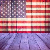 Wooden deck USA flag — Stock Photo