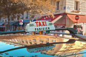 Parisian taxi — Stock Photo