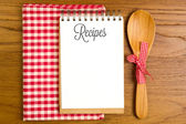 Blank note book for recipes — Stock fotografie