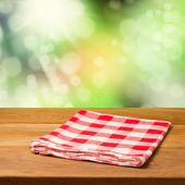 Vintage background with wooden table — Stock Photo